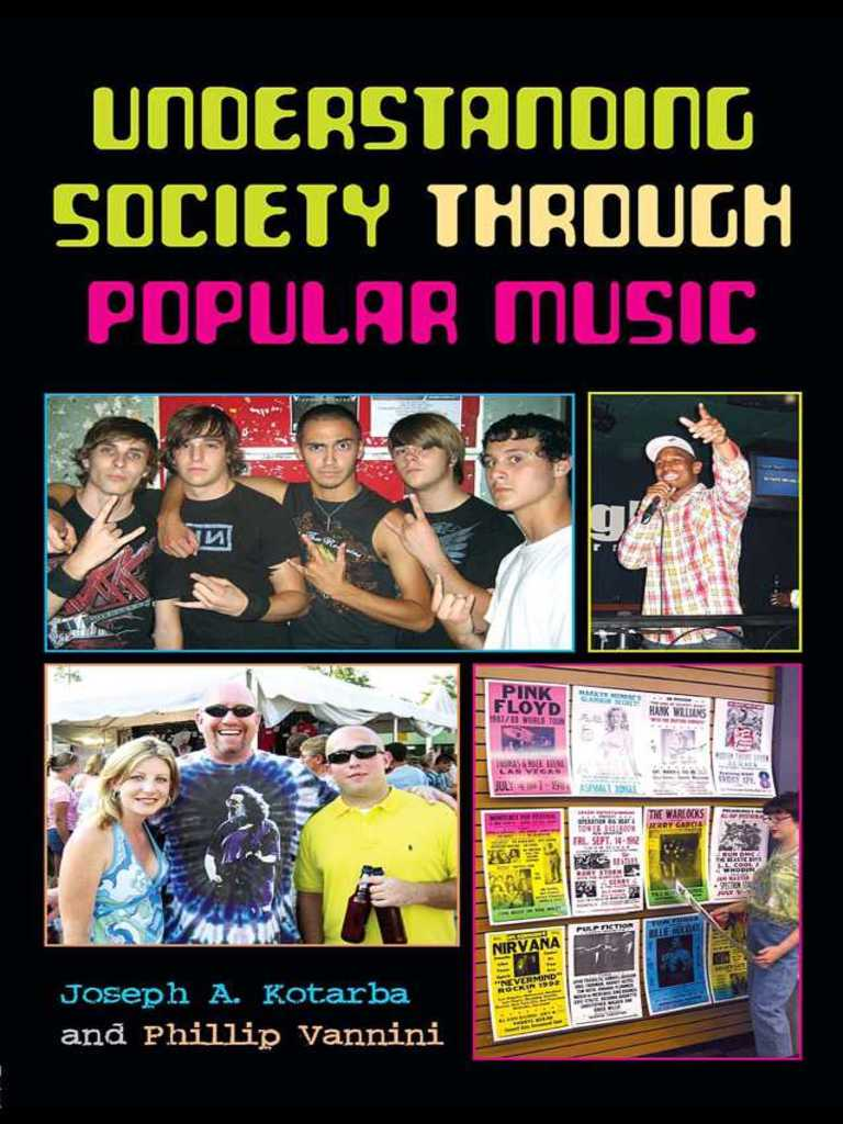 understanding society through popular music social
