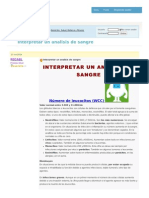 Interpretar Un Analisis de Sangre