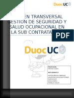 Examen Transversal Gestion de Seguridad y Salud Ocupacional en La Sub Contratacion