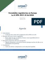 AERPAS Novedades Regulatorias en Europa