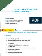 AESA Experiencia en La Aplicación de La Norma Transitoria
