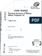 Teapot Technical Summary of Military Effects WT 1153