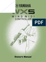 Customer Instructions for WX5 Yamaha