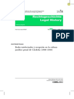 Cesano, José.- Redes Intelectuales y Recepción en La Cultura Jurídico Penal de Córdova 1900-1950