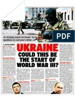 WWIII Article Ukraine Civil War and Invasion Crisis April 2014