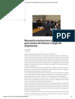 08-12-15 Necesario reestructurar deuda pública para avance de Sonora