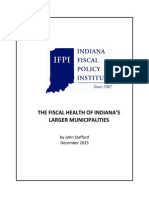 Report From Indiana Fiscal Health Policy Institute