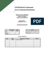 GTX32RemoteTransponder_InstructionsforContinuedAirworthiness