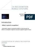 Speech Recognition Presentation