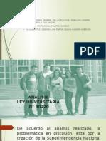 Analisis Ley Universitaria