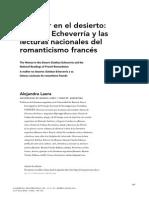Laera - La Mujer en El Desierto Esteban Echeverría y Las Lecturas Nacionales Del Romanticismo Francés