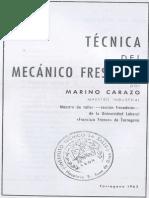Técnica Del Mecanico Fresador