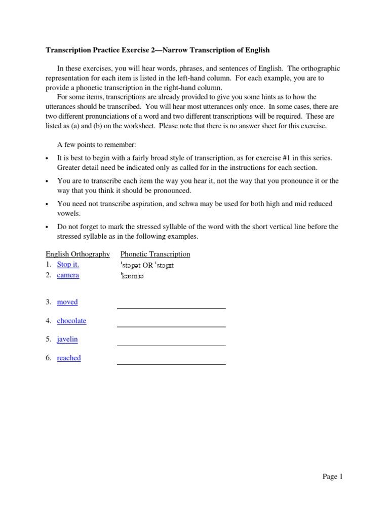 Ex2 Narrow English[1] | Sílaba | Consonante