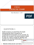 CSCU Exercise Exam