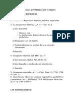 Capacidad Formalidades y Objeto