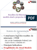 Royalties Mineracao Modelo Atual Propostas Mudanca SEICOM
