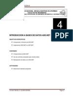 4.- Introduccón a ADO.net