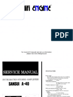 Hfe Sansui a-40 Service