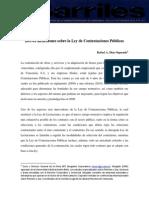 Ley de Contrataciones Públicas _Barriles