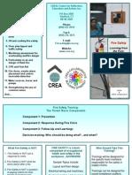 CREA Fire Safety Training Brochure 1211