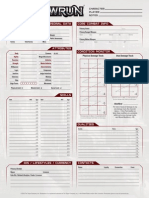 Shadowrun Fillable Character Sheet