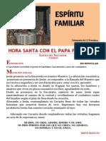 HORA SANTA CON EL PAPA. El Espíritu Familiar (27)