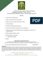 DOA Board Meeting December 2, 2015 Agenda Packet