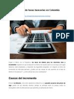 Aumento de tasas bancarias en Colombia