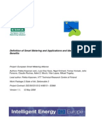 Definition of Smart Metering and Applications and Identification of Benefits