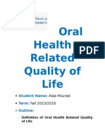 Oral Health Related Quality of Life