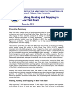 New York Comptroller Tom DiNapoli's Report on Economic Impact of Fishing and Hunting
