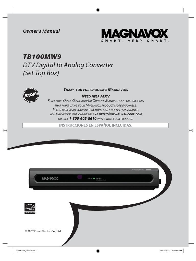 magnavox digital box manual
