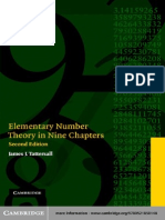 James J. Tattersall-Elementary Number Theory in Nine Chapters-Cambridge University Press (2005)