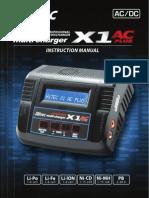 Hitec X1+AC LiPo Charger Manual