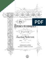 Andersen Joachim- 24 Études Pour Flûte Seul Op.63 - Part.1