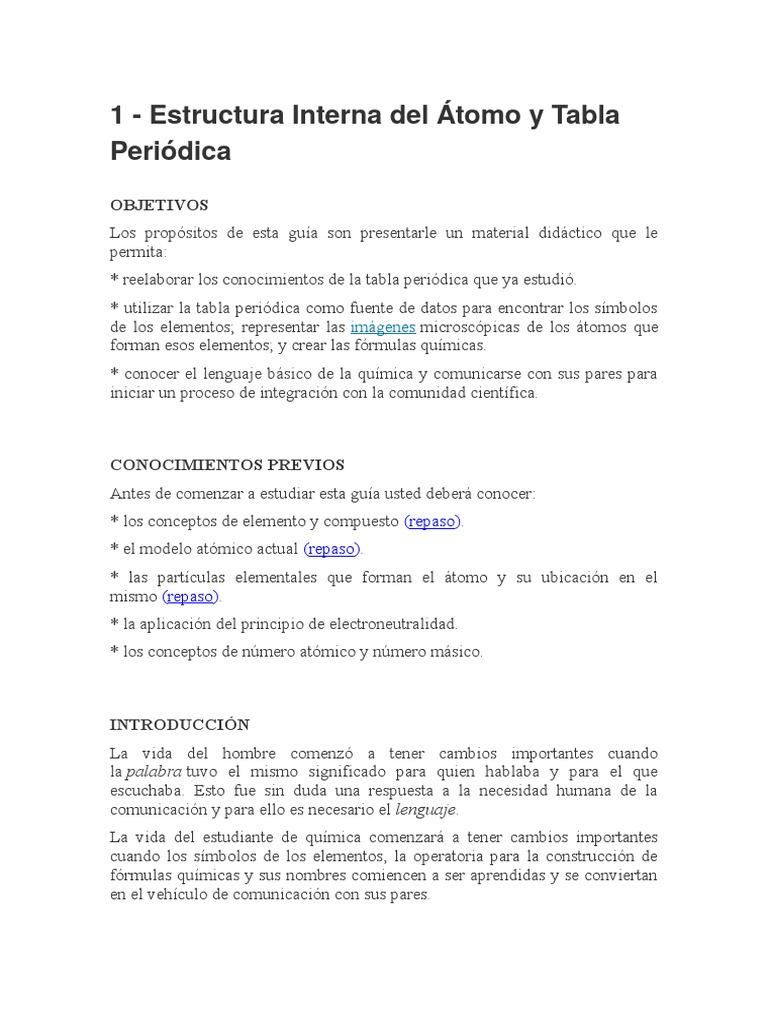 1 Estructura Interna Y Tafxzfxzbla Periódica