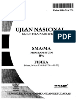 Pembahasan Soal UN Fisika SMA 2013 Paket 1