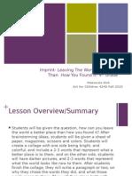 art lesson plan presentation fall 2015