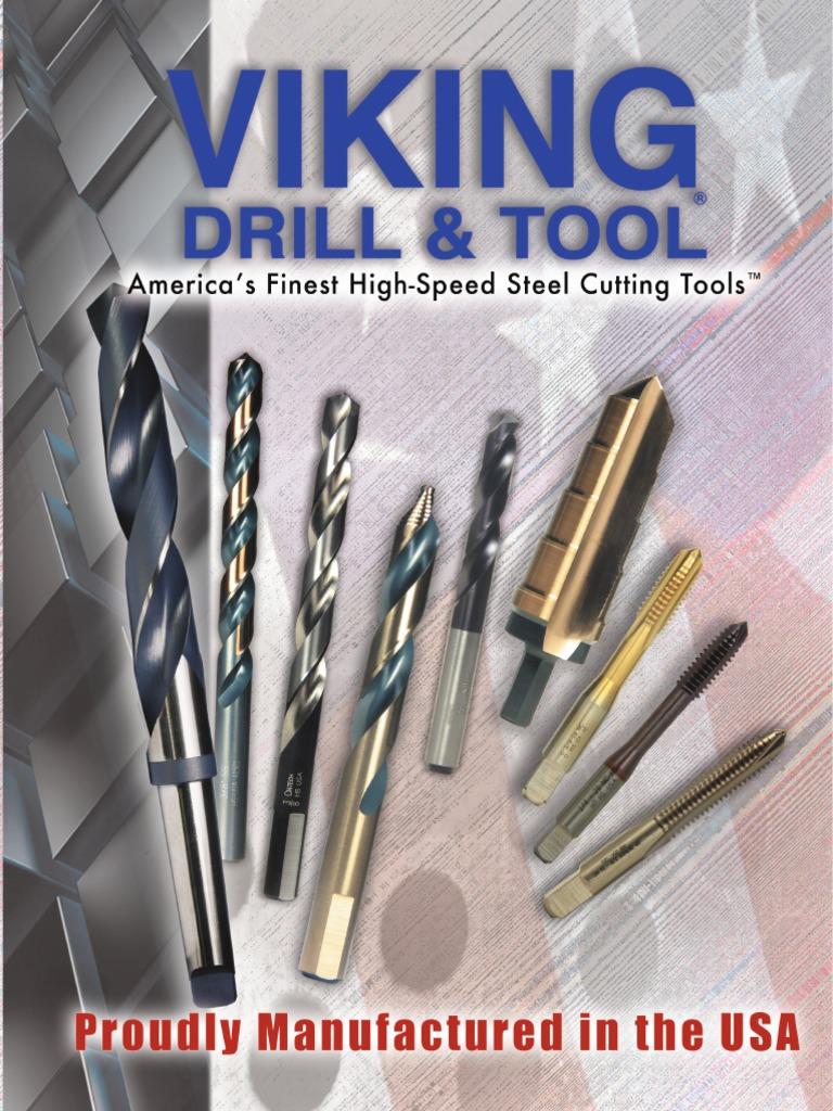 3//8 Viking Drill and Tool 87910 Type 260-UB 135 Degree Split Point Magnum Super Premium Screw Machine Length Drill Bit 6 Pack
