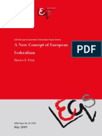Bruno Frey - A New Concept of European Federalism