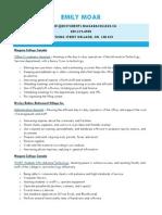 Modelo De Curriculum Vitae En Ingles Microsoft Excel Communication