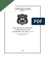 Reglamento Sumarios Administrativos Carabineros de Chile