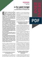 INSEE - Né en France d'un parent immigré - Mars 2010