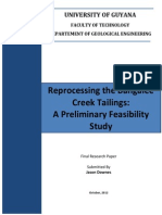 Reprocessing the Bangalee Creek Tailings - Jason Downes - 2012