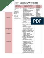 English Lesson Plan 2015