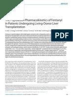 Fentanyl Patients Living Donor Liver Transplantation
