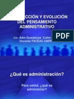 Evolucion Del La Administracion