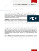 Choosing an ERP Solution