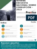 Proética Resultados Ipsos IX Estudio Percepción Corrupción 2015