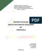 juegos nacionales escolares en Venezuela